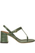 Crocodile print leather sandals L'Autre Chose
