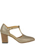 Tango style textured leather pumps Pantanetti