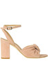 Suede sandals with bow Guglielmo Rotta