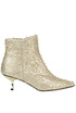 Fringed metallic effect leather ankle-boots Ncub