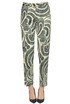 Printed satin trousers Dries Van Noten