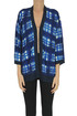 Checked print cotton and viscose cardigan In Bed With You