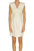Eco-leather inserts dress Elisabetta Franchi