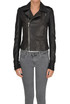Leather biker jacket Rick Owens