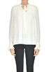 Pleated crepè blouse Tory Burch