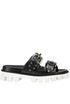 Studded leather slides RED Valentino