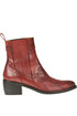 Reptile print leather texan ankle-boots Maliparmi