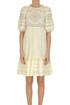 Cotton dress with lace inserts Sea