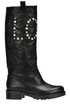 Embellished leather boots Patrizia Pepe