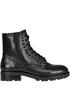 Woolf studded leather combat boots Ash
