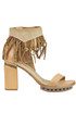 Fringed leather sandals A.S. 98