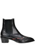 Leather texan ankle boots Dries Van Noten