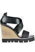Leather wedge sandals O.X.S