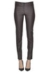 Eco-leather slim trousers Patrizia Pepe