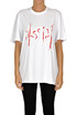 Sequined designer logo t-shirt MSGM