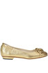 Metallic effect leather ballerinas Gianna Meliani