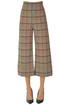 Checked print cropped trousers Pinko