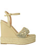 Embellished wedge sandals Twinset Milano