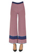 Striped cotton knit trousers Incontro 7