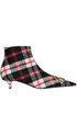 BB checked print fabric ankle-boots Balenciaga