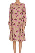 Flower print silk dress Rochas