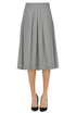 Pleated flannel skirt D.Exterior