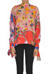 Printed satin and crepè blouse MSGM