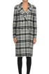 Checked print coat with studs Ermanno Scervino