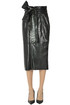 Crocodile print eco-leather penci skirt MSGM