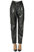 Eco-leather trousers with darts MSGM