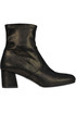 Metallic effect sock ankle boots Yosh Collection