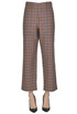 Checked print wool trousers Jejia