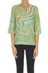 Optical print silk blouse Caliban