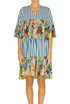 Printed viscose-blend dress Motel