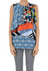 Printed silk top MSGM