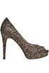 Glittered open-toe pumps Guess
