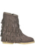 Fringed suede boots Passion Blanche