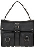 Leather satchel bag Moschino Couture