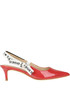 Patent-leather slingback pumps Guess