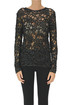 Embellished cut-out knit pullover Saint Laurent