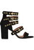 Studded suede sandals Via Roma 15