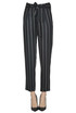 Pinstriped viscose trousers Forte_Forte
