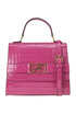 Crocodile print leather bag Alberta Ferretti
