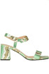 Reptile print leather sandals Pollini
