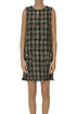 Checked print tweed dress Kaos
