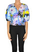 Cropped flower print top MSGM
