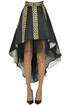 Asymmetric wide skirt Nualy