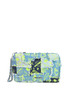 Printed patchwork denim pouch Mia Bag