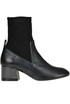 Leather and fabric sock ankle boots Marc Ellis
