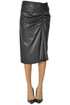 Eco-leather pencil skirt Gold Case